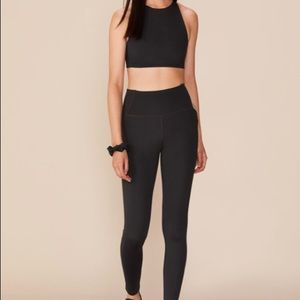 Girlfriend Collective Black Pocket Leggings